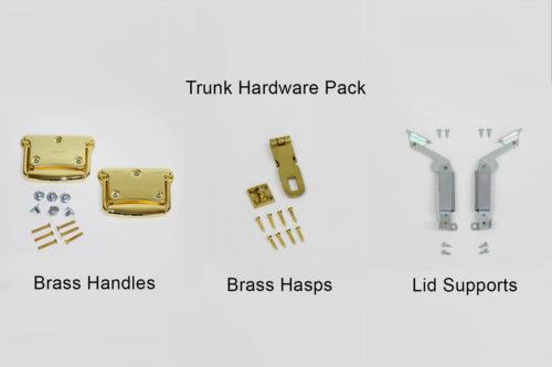 brass trunk hardware package