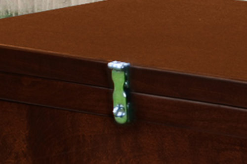 chrome hasp on tack trunk