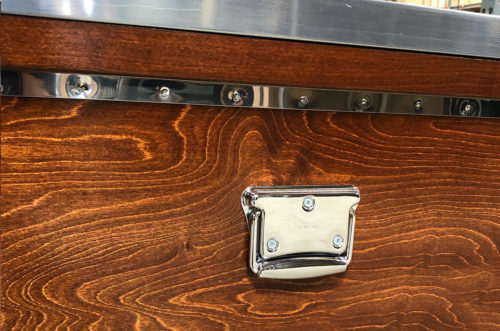 chrome handle on heritage tack trunk