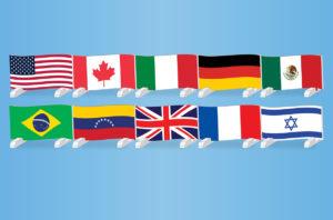 graphic flag hurdles 10 countries