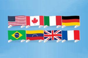 graphic flag hurdles 8 countries