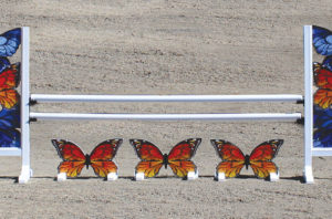 graphic hurdle golden butterfly