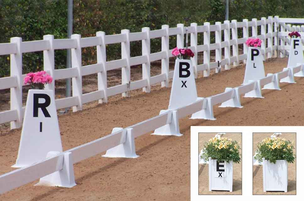 dressage flower boxes and letters