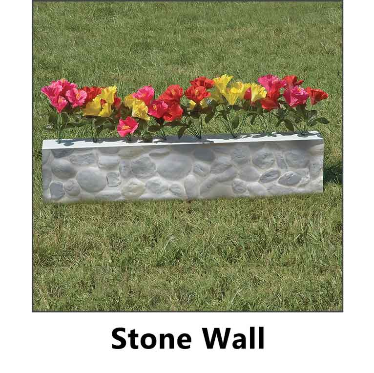 stone wall flower box graphic