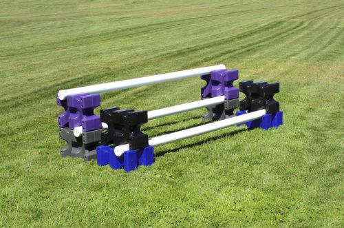 riser max jump blocks 4 pair purple, grey, black, and blue
